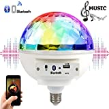 Fashionwu E27 85-265V LED 6W Music LED Blub, Colourful Bluetooth LED Music Rhythm Blub Light for Party