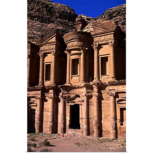 GREATBIGCANVAS Poster Print Entitled Al Deir or The Monastery in Petra by ()