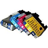 【ノーブランド品】brother(ブラザー) LC111 4色セット 純正互換インクカートリッジ ICチップ付(残量表示機能)