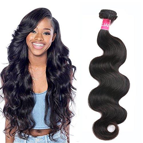 Eliana Hair Brazilian Body Wave 1 Bundle 18inch 8A Unprocessed Virgin Brazilian Body Wave Human Hair Natural Black Brazilian Virgin Body Wave Weft
