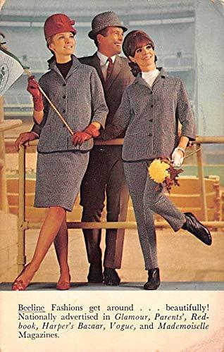 Advertising Post Card Beeline Fashions Clothing 1967