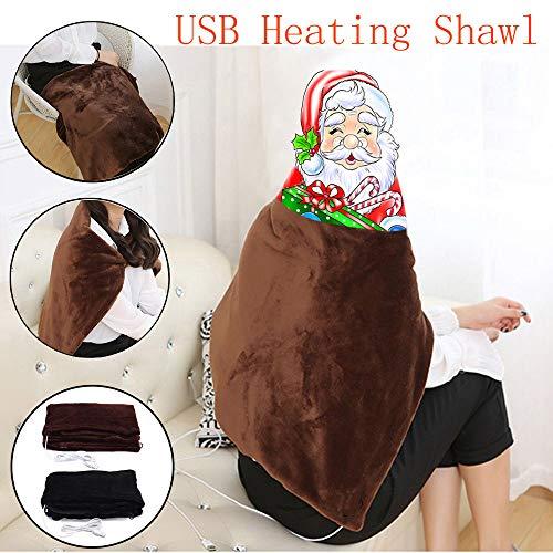 Gotian Blanket Winter ☀ Warm USB Soft Heated Shawl Electric Warming Neck Shoulder Heating Lap Blanket Pad ()