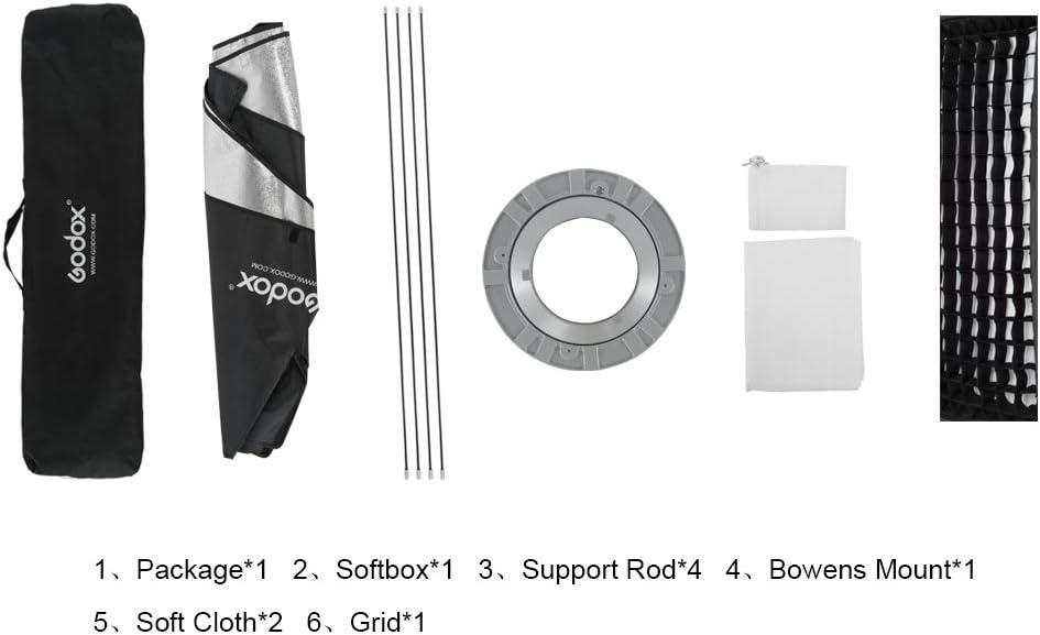 Godox 24x 35 60 x 90cm Honeycomb Grid Softbox Soft Box with Bowens Mount Compatible Studio Strobe Flash Light
