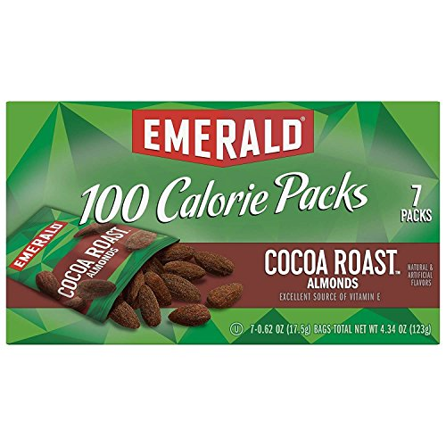 Emerald Nuts, Cocoa Roast Almonds 100 Calorie Packs, 7 Count Box