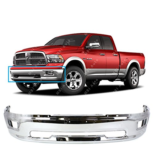 Bumpers Steel Trucks (MBI AUTO - Chrome, Steel Front Bumper Shell Face Bar for 2009-2012 Dodge RAM 1500 Pickup W/Fog Light Holes 09-12, CH1002386)