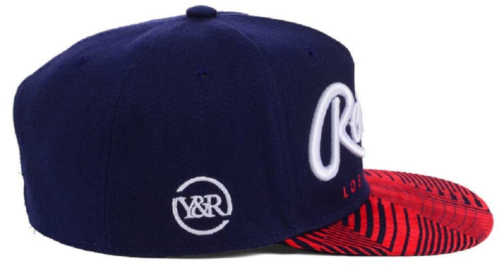 f3abce105b50a Amazon.com  Young   Reckless Big R Script Navy Red Snapback Hat Cap  Sports    Outdoors