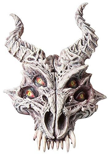 Fun World Men's Dragon Skeleton Mask, Multi, One Size -