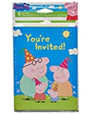 American Greetings Girls Peppa Pig Invite and Thank You Combo Pack(8 Count)