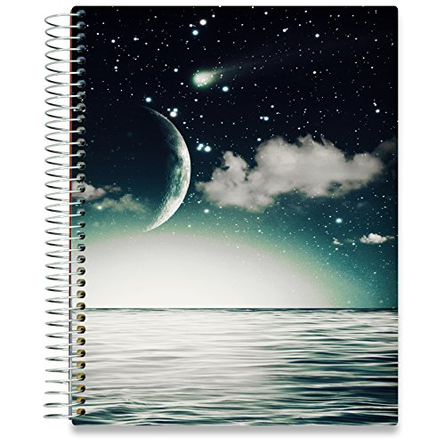 Full Year Vertical Planner - Tools4Wisdom Planner 2018-2019 8.5-x-11 Hardcover - Dated July 2018 to June 2019 Academic Year Calendar - Daily Weekly Monthly Yearly Goals Journal Agenda - Personal Organizer w Stickers Accessories
