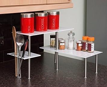 estantera de esquina para oficina cocina bao o oficina organizador