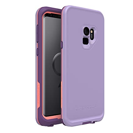 Lifeproof FRĒ Series Waterproof Case for Samsung Galaxy S9 - Retail Packaging - Chakra (Rose/Fusion Coral/Royal Lilac)