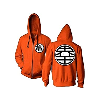 06c94182 Image Unavailable. Image not available for. Color: Dragon Ball Z Kame  Symbol Orange Zip-Up Adult Hoodie ...