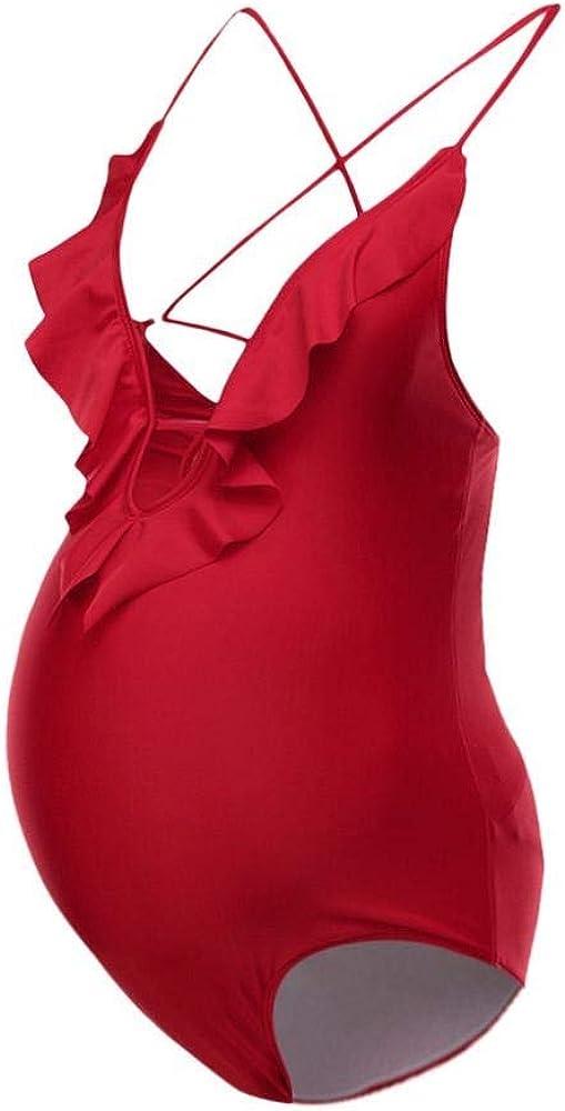 Logobeing Bañador Premama/Traje de Baño Mujer Maternidad para Mujer con Estampado Floral Bikinis Traje de Baño Mujer Deportes Tankinis Mujer Tallas Grandes Bañador - Playa 214