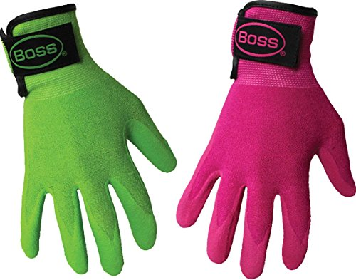 BOSS MANUFACTURING 8443S 656727 Guardian Angel Sandy Nitrile Palm Glove Assorted, Small, Assorted ()