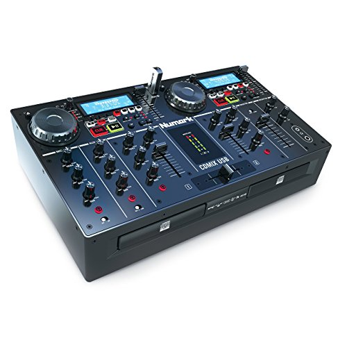 Professional Dj Dual Cd Player (Numark CDMix USB | Dual CD/USB Media Player with Backlit LCD and Aux Input (16-bit / 44.1kHz))