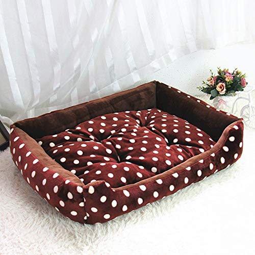Aigou Dog Bed Soft Coral Fleece Winter Warming Puppy House Pet Cats Nest Mat 3 Goods For Dogs