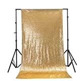 Zdada 5ftx7ft-Gold-Sequin Photo Satin Backdrop,Wedding Photo Booth,Photography Background (Gold)