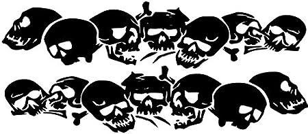 Schädel Totenköpfe Aufkleber Für Die Fahrzeugseite 1 40m X 25 Cm Als Paar Für Die Rechte Und Die Linke Seite Lila Glanz Küche Haushalt