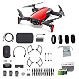 Cheap DJI Mavic Air Fly More Combo (Flame Red) Portable Quadcopter Drone Bundle with 64GB SD Card, 4-Pack Lens Filter Set and More