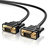 UGREEN VGA SVGA HD15 Male to Male Video Coaxial Monitor Cable with Ferrite Cores Gold Plated Connectors Support 1080P Full HD for Projectors, HDTVs, Displays and More VGA Enabled Devices 10FT, 3M
