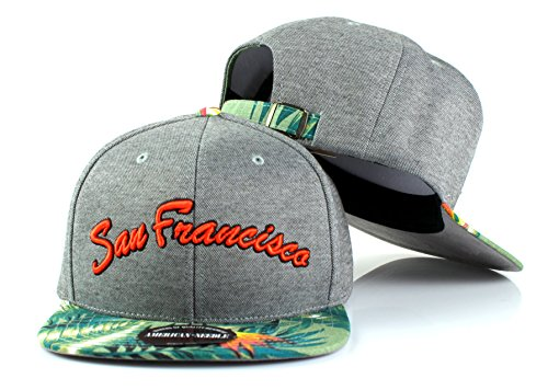 San Francisco American Needle Limited Edition Palm Floral Pattern Adjustable Backstrap - State Hat San Jose