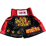 Full Funk Simple Satin Muaythai Fighting Dragon Shorts Muay Thai Kickboxing