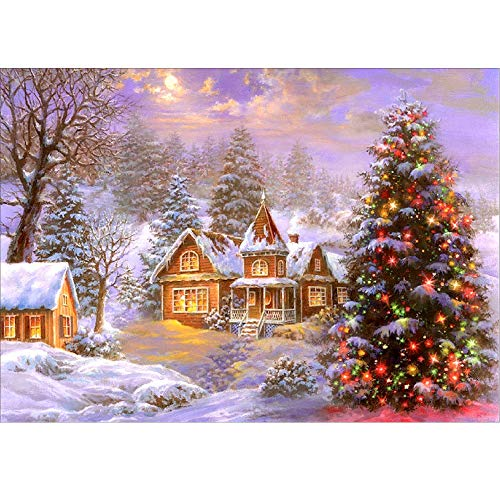 (HHmei 5D Embroidery Paintings Rhinestone Pasted DIY Diamond Painting Cross Stitch Decorations Outdoor Tree Table Lights Blue Home Set Silver Wall Ornaments Party Streamers E)