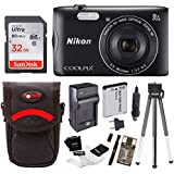 Nikon Coolpix A300 Wi-Fi Digital Camera (Black) with 32GB Card + Case + Accessory Kit