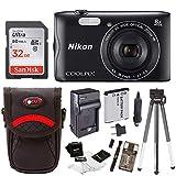 Nikon Coolpix A300 Wi-Fi Digital Camera (Black) with 32GB Card + Case + Accessory Kit