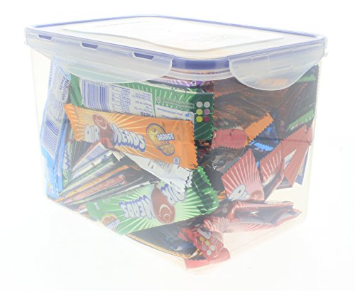 Price comparison product image Assorted 6 Flavor AirHeads 100 ozBulk in an EasyLock container that is Airtight,  Watertight,  and Stackable