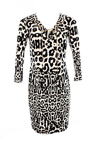 6 Khaki Animal Chain Dress Calvin up Print Lace Multi Klein Business Dinner PUfwpqH