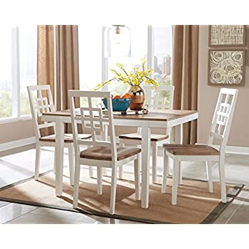ashley furniture signature design brovada rectangular 5piece dining room set includes table