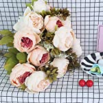 BOMAROLAN-Vintage-Artificial-Peony-Bouquet-Silk-Wedding-Flowers-Pack-of-2-Fake-Flowers-Home-Party-Festival-DecorationLight-Pink