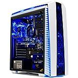 Skytech Gaming ST-ARCH-II-002 Archangel Gaming Computer Desktop PC AMD Ryzen 5 1400,GTX 1060 3GB, 1TB HDD,16 GB DDR4, Windows 10 Home, White