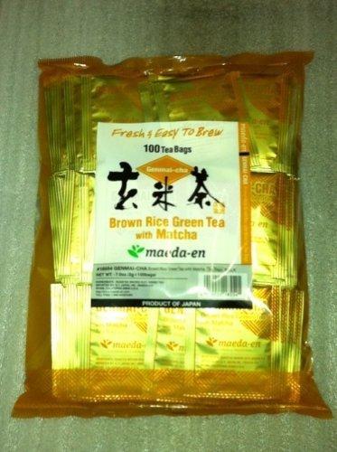 brown rice tea with matcha - 3