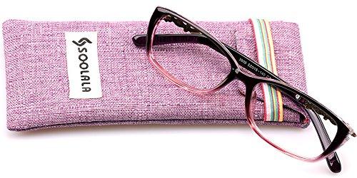 SOOLALA New Fashion Womens Inspired Squared Spring Hinge Clear Lens Eyeglass Glasses Frame, - Womens Glasses Americas Best