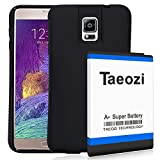 Taeozi 11800mAh Galaxy Note 4 Extended Battery NFC with TPU Protection Cover Case