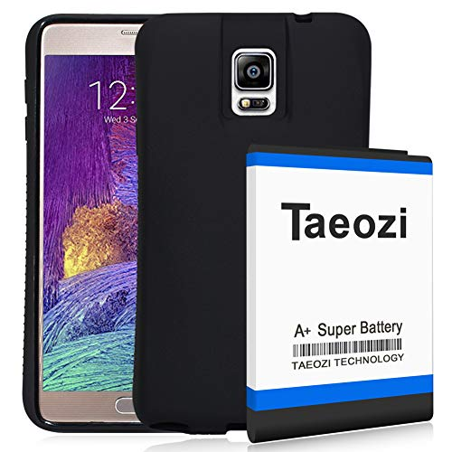 Galaxy Note 4 Extended Battery [11800mAh] with NFC & Black Protection Cover Case (More Than 3X Extra Battery Power) Fits All Versions of Galaxy Note 4 [365 Day Warranty]