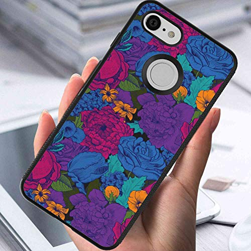 Google Pixel 3 Case [5.5inch] Floral Vintage Lush Bouquet Vibrant Shabby Chic Blooms in Exotic Boho Tones Beauty Image Multicolor