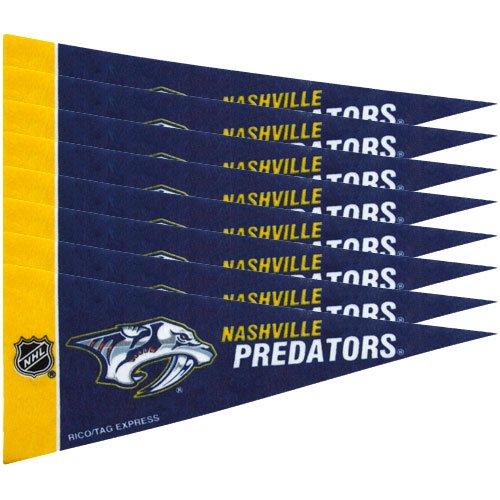 NHL Nashville Predators 8-Pack 4'' x 9'' Navy Blue Mini Pennant Set