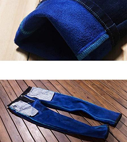 Addensare Leisure Fashion Denim Pantaloni Giovane Da Slim Saoye Caldi Nero Lavoro Vintage Termici In Uomo Jeans 4fwxvFvgq