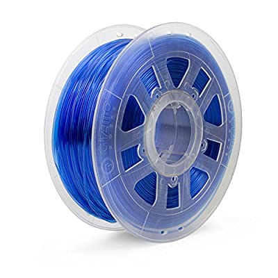 Gizmo Dorks 1.75mm PETG Filament 1kg /2.2lbs for 3D Printers, Translucent Blue