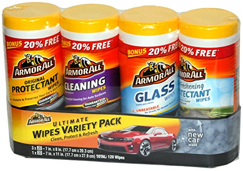 [해외]Armor All Ultimate Wipes 자동차 용 다양한 팩 - 총 120 벌/Armor All Ultimate Wipes Variety Pack for Automobiles - 120 Wipes Total