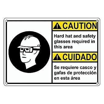 Amazon.com: De plástico resistente ANSI precaución sombrero ...