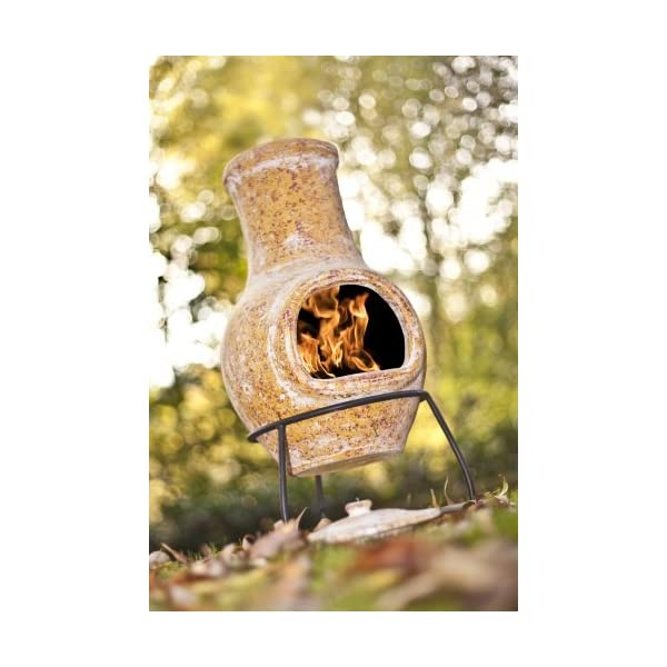 La Hacienda Yellow Small Clay Chiminea