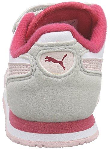 Puma Cabana Racer SL, Niños-Niñas Zapatillas White/Pink Dogwood