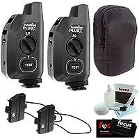 PocketWizard Plus X Radio Trigger with 10 Channels, Hildozine Transceiver Caddy