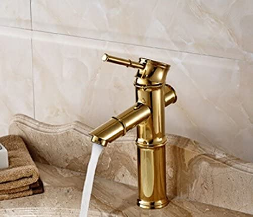 A, 5151buyworld Top Qualit/é robinet Bambou Dor/é robinet de salle de bain robinet mitigeur chaud et froid Hosefor de salle de bain de cuisine Maison Couvent