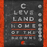 Photo File Eye Chart Cleveland Browns Unframed Poster 13x13 Inches
