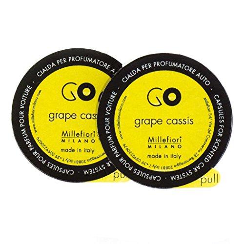 Refill for Grape Cassis Millefiori Milano Go Car Diffuser - 2 Capsules